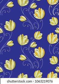 Seamless fancy vector flower pattern