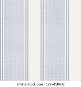 Seamless farmhouse style stripes texture. Shabby chic style weave  background. Line striped  fabric for kitchen towel material, table cloth, wallpaper. Vector