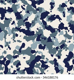Seamless fashion blue and white camouflage pattern vector