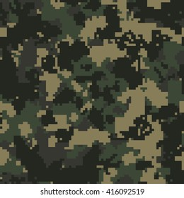 Seamless fashion classic woodland forest camo pattern vector