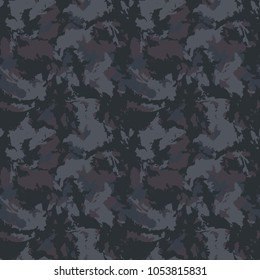 Seamless fashion dark grey camouflage pattern vector. Urban camo repeat backdrop, print for clothes or another masking surfaces, wallpaper or wrapping paper