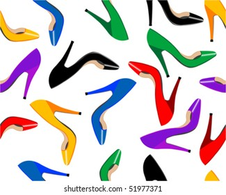 Seamless female shoes background