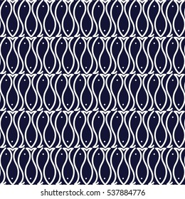 Seamless fish pattern Vector seamless background