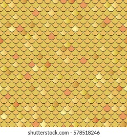 Seamless fish scales background. Vector textured pattern.