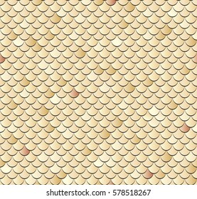 Seamless fish scales background. Vector texture pattern.