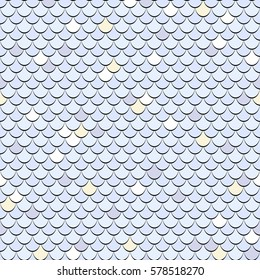 Seamless fish scales background. Vector tiled texture pattern.