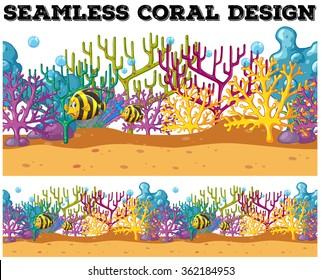 Seamless fish swimming under the ocean illustration