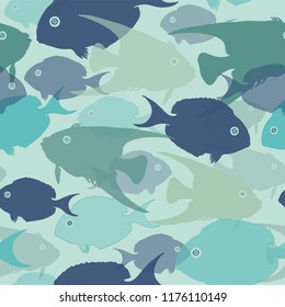 Seamless fish underwater vector pattern, perfect for wallpaper, scrapbooking, textile and gift wrapping paper