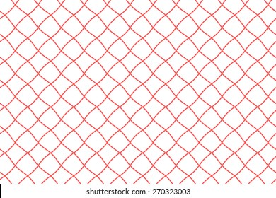 Seamless Fishing Net Pattern of Pseudo Irregular Mesh Cells of Red Color.