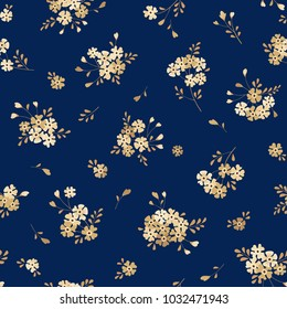 Seamless floral background with bouquets of small flowers. Vector pattern for wallpaper, fabric, digital paper, fills, etc.