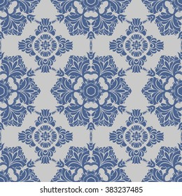 seamless floral background, lace ornament