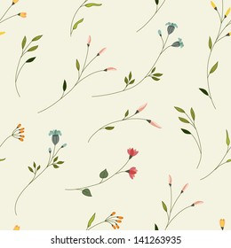 Seamless floral background with small flowers