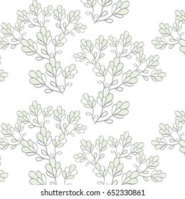 Seamless floral background with tree branches