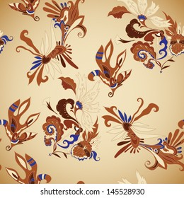 seamless floral exotic pattern