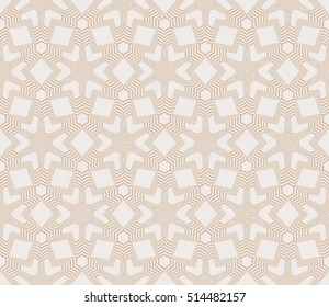 seamless floral geometric pattern. beige color. Texture for holiday card, Valentines day, wedding invitation, design wallpaper, pattern fills, web page, banner, flyer. Vector illustration.