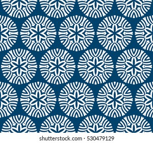 seamless floral geometric pattern. Texture for holiday cards, Valentines day, wedding invitations, design wallpaper. Vector illustration. blue color