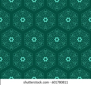 seamless floral lace pattern with hand drawn texture. Ornament for interior design, greeting cards, birthday or wedding invitations, fabric print. Ethnic background in arabian style.