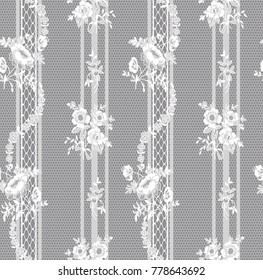 seamless floral lace pattern, vector illustration