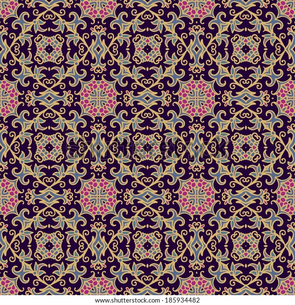 Seamless floral laced pattern