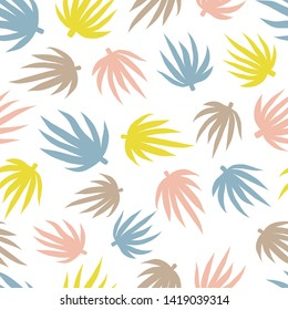 Seamless floral leaves repeat pattern design. Vector repeat, fun for all sorts of projects.