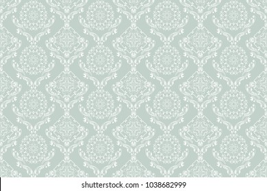 Seamless floral ornament on background. Contemporary pattern. Wallpaper pattern. Trendy wallpaper pattern