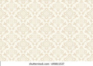 Schon Seamless Floral Ornament On Background. Wallpaper Pattern