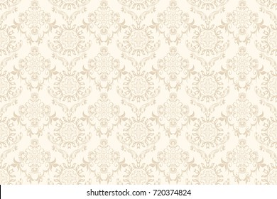 Seamless floral ornament on background. Contemporary pattern. Wallpaper pattern