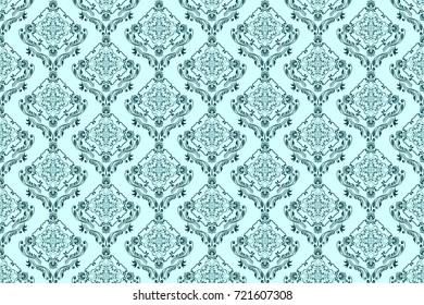 Seamless floral ornament on background. Decorative pattern on background. Wallpaper pattern. Template for design of your interior