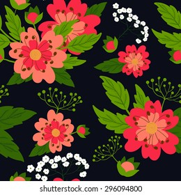 Seamless floral patern.