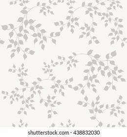 Seamless Floral Pattern. Abstract background, Decorative Design with leaves.