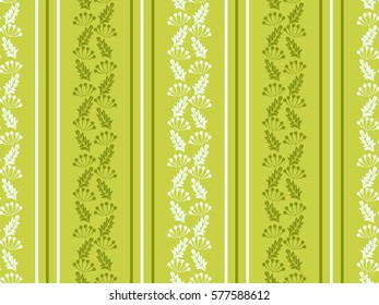 Seamless floral pattern of abstract flowers and leaves. For textile or book covers, manufacturing, wallpapers, print, gift wrap.