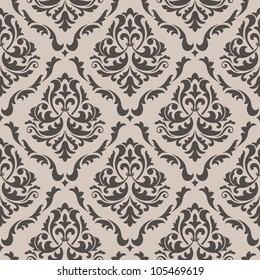 Seamless floral pattern for background design in victorian style. Jpeg version also available in gallery