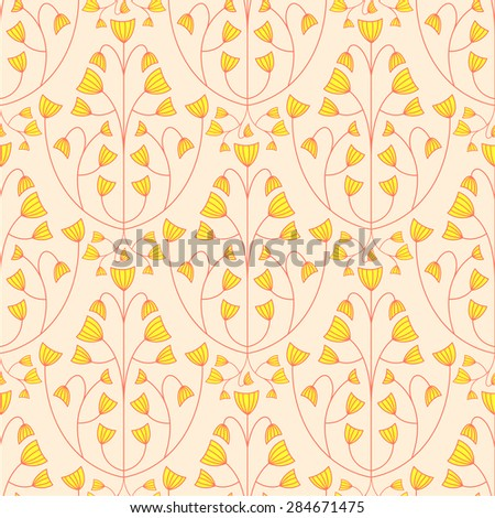 Seamless floral pattern background. Nature flower texture.