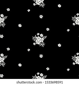 Seamless floral pattern. Background in small flowers for textiles, fabrics, cotton fabric, covers, wallpaper, print, gift wrapping, postcard, scrapbooking.