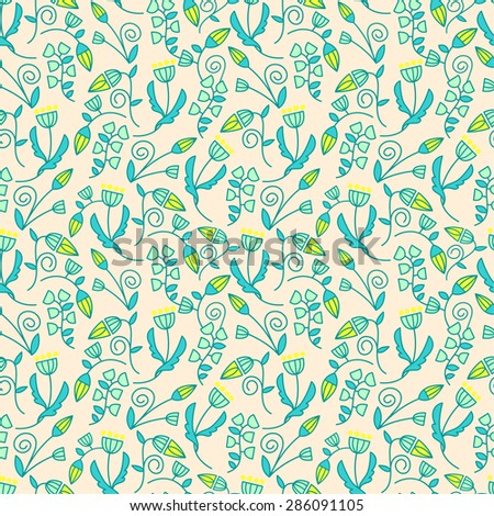 Seamless floral pattern background. Summer flower texture.