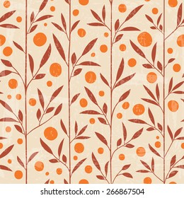 Seamless floral pattern. Can be used as fabric design, wrapping paper, web background
