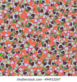 Seamless floral pattern can be used for wallpaper, website background, wrapping paper. Leaf natural varicolored pattern. Summer design. Vector Flower concept.