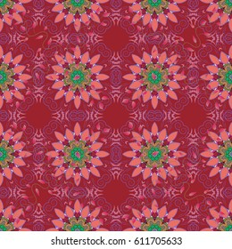 Seamless floral pattern can be used for wallpaper, website background, wrapping paper. Summer design. Vector flower concept. Leaf natural pattern in colors.