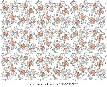 Seamless floral pattern. Creative spring wallpaper. Colorful abstract illustration. Modern, creative print for textile, fabric, background, cards, invitations.