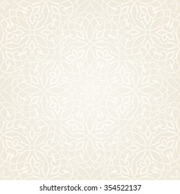 Seamless floral pattern. Damask filigree ornament. Traditional eastern motifs. Vector illustration