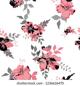 Seamless floral pattern. Flowers background texture