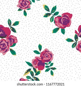 Seamless floral pattern. Flowers texture background