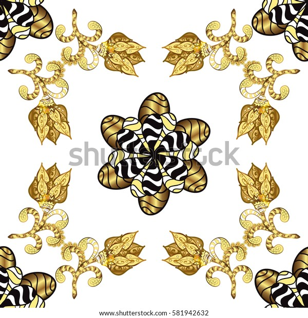 Seamless floral pattern. Graphic modern seamless pattern on white background. Wallpaper baroque, damask. Seamless vector background.