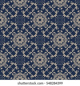 Seamless floral pattern on background. Wallpaper pattern