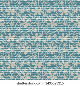 seamless floral pattern on  stripes