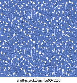 Seamless floral pattern. Pretty hand drawn background
