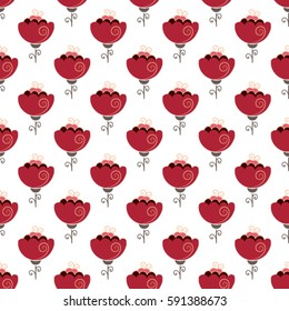 seamless floral pattern. Spring background