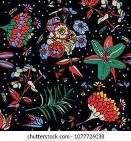 Seamless floral pattern. Textiles, wallpaper.