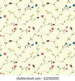 Seamless floral pattern with tiny flowers