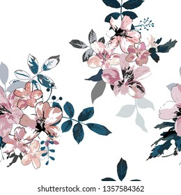Seamless Floral Pattern in Vector - Vector